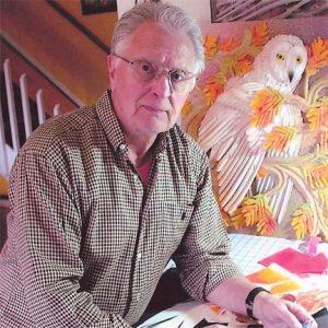Leo Monahan in his studio
