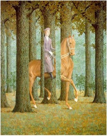 "An applied example of the exercise. ""The Blank Signature"" by Rene Magritte. https://www.pinterest.com/pin/488077678340527915/"